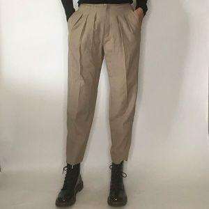 {Vintage} pleated high waist pants